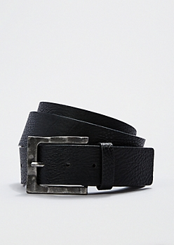 Rugged Faux Leather Belt