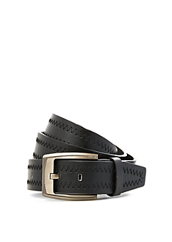 Zigzag Stitch Black Belt