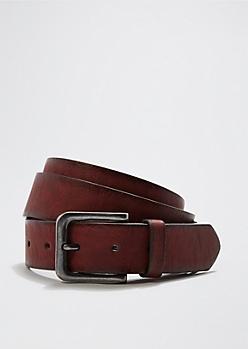 Red Rustic Buckle Belt
