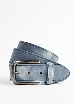 Cloudy Blue Faux Leather Belt