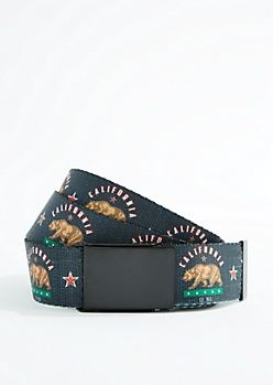 Cali Republic Reversible Webbed Belt