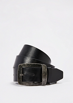 Black Vintage Buckle Belt