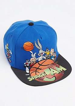 Blue Stitched Space Jam Snapback