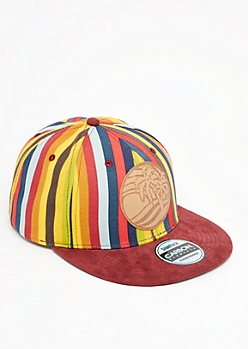 Striped Palm Tree Snapback