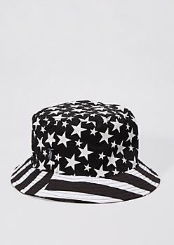 Black & White Flag Bucket Hat