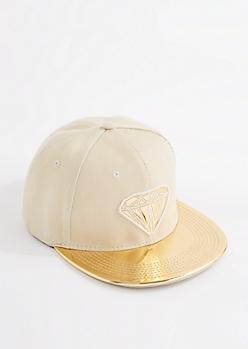Gemstone Gold Vinyl Snapback Hat