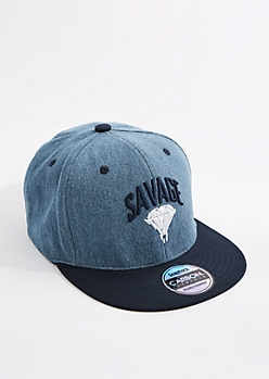 Savage Denim Snapback