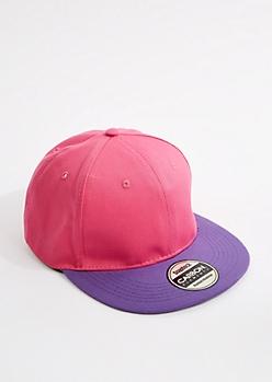 Neon Fuchsia & Purple Snapback