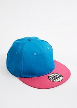 Neon Blue & Fuchsia Snapback