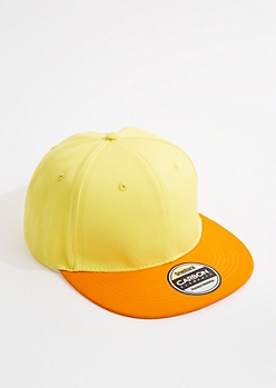 Neon Yellow & Orange Snapback