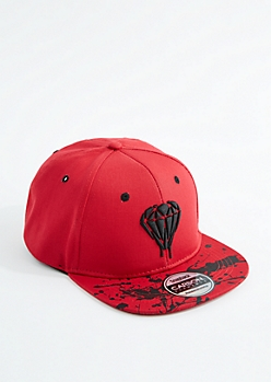 Paint Splattered Gem Snapback