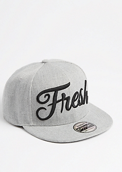 Fresh Black Glossed Snapback