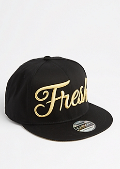 Fresh Gold Metallic Snapback
