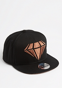 Raised Gem Metallic Snapback
