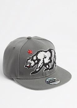 Gray Cali Bear Snapback