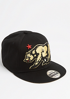 Black Cali Bear Snapback