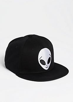 Alien Head Patch Snapback Hat