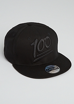100 Emoji Patch Snapback Hat