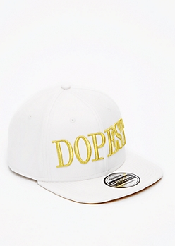 Faux Leather Stitched Snapback