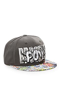 Brooklyn Comic Book Snapback Hat