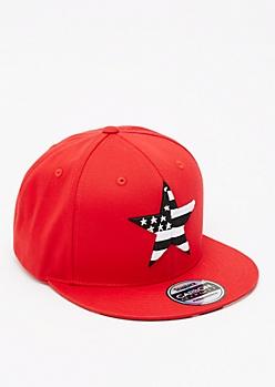 Red Americana Star Snapback