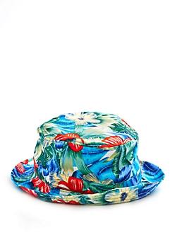 Blue Tropical Bucket Hat