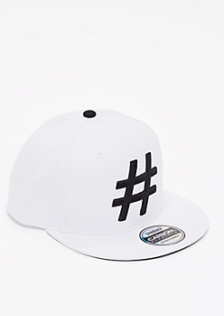 Hashtag Embroidered Snapback