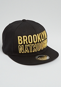 Black Brooklyn Flipped Snapback
