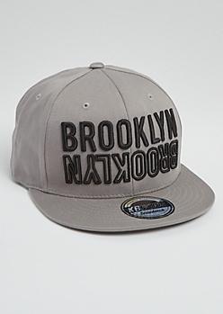 Gray Brooklyn Flipped Snapback