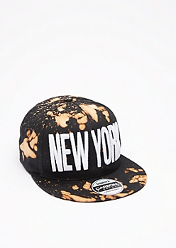 Bleached New York Snapback