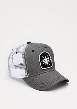 Patched Mesh Baseball Hat