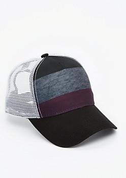 Striped Mesh Baseball Hat