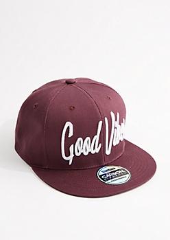 Dark Purple Good Vibes Snapback