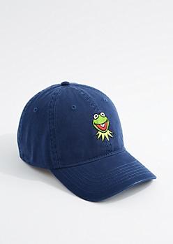 Navy Kermit the Frog Dad Hat