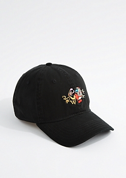 Black Ren and Stimpy Dad Hat