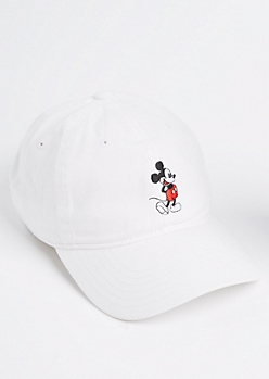 White Mickey Mouse Dad Hat