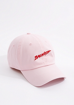 Pink Baewatch Embroidered Dad Hat