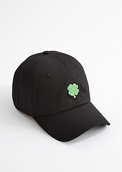 4-Leaf Clover Embroidered Dad Hat