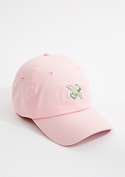 Pink Flying Money Dad Hat