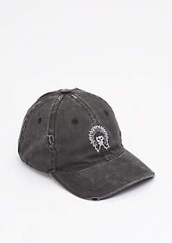 Skull Headdress Washed Twill Dad Hat