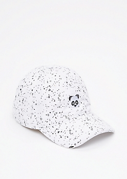 Embroidered Panda Paint Splatter Dad Hat