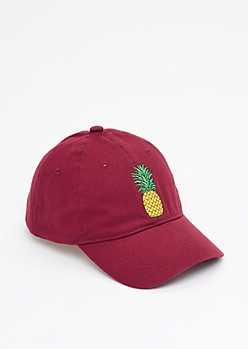 Embroidered Jumbo Pineapple Dad Hat