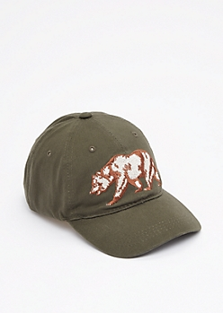 Embroidered Cali Republic Bear Dad Hat