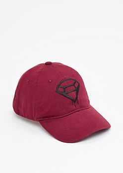 Embroidered Dripping Gem Dad Hat