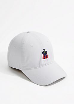 White Super Hero Dad Hat