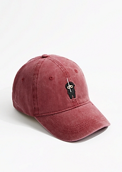 Washed Burgundy Ninja Dad Hat