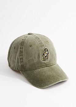 Washed Olive T-Rex Dad Hat