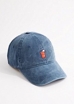 Washed Navy Solo Cup Dad Hat