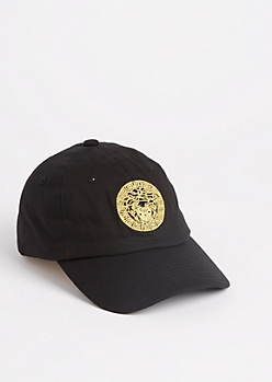 Black Golden Medusa Dad Hat