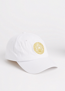 White Golden Medusa Dad Hat